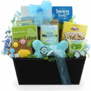 Dog treat gift basket